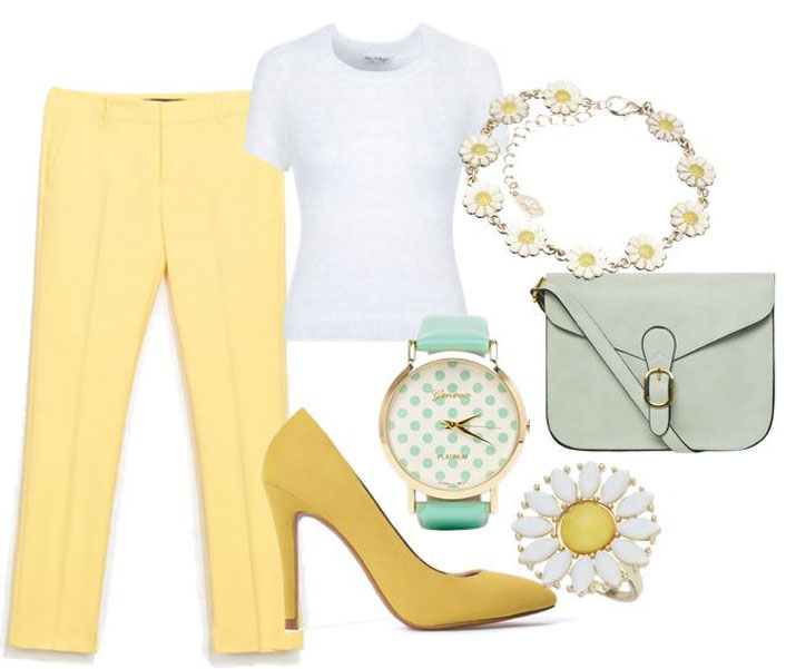 what to wear with yellow shoes   spring outfit