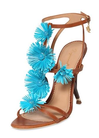 DSquared flower-front leather sandals
