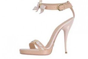 Viktor & Rolf nude and white bow sandal