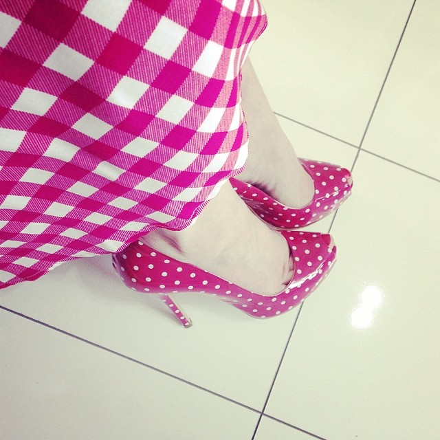 Spots and checks... #shoes #polkadots #gingham