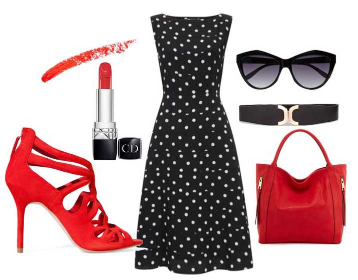 what to wear with red strappy sandals