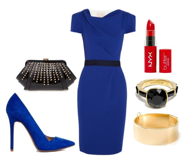 what to wear with bright blue shoes