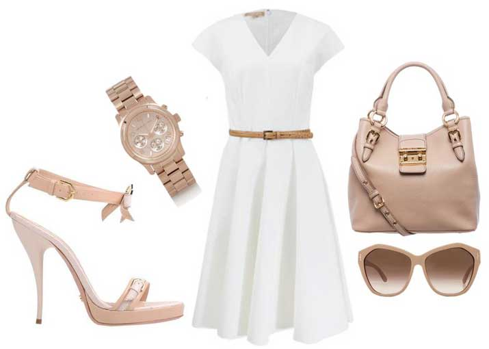 what to wear with white sandals