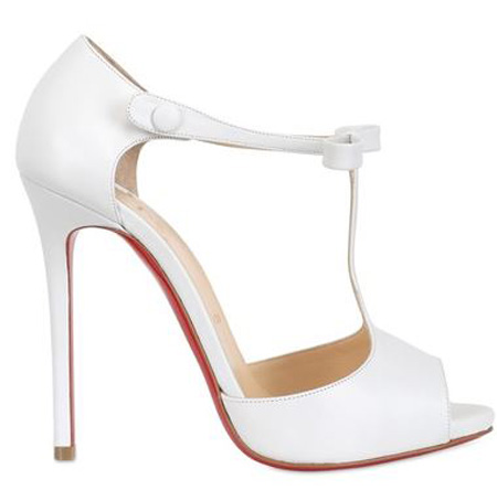 7d530eb2756 Friday Fix | Christian Louboutin 'Belly Nodo' white t-bar sandals ...