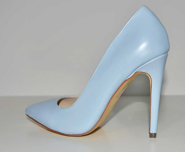 blue pointed court tshoes