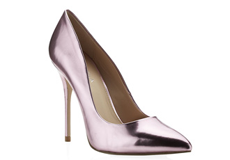 Carvela &39Gunning&39 pink metallic court shoes &gt Shoeperwoman