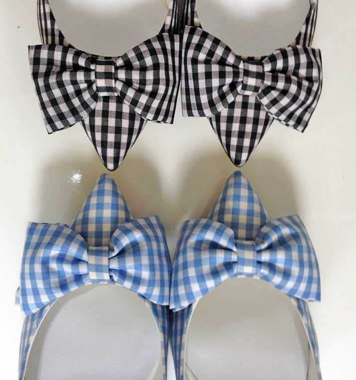 gingham bow shoes