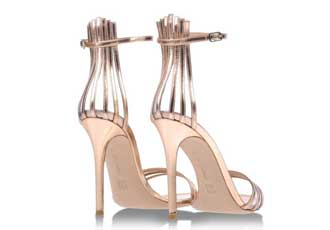 Gianvito Rossi gold strappy sandals