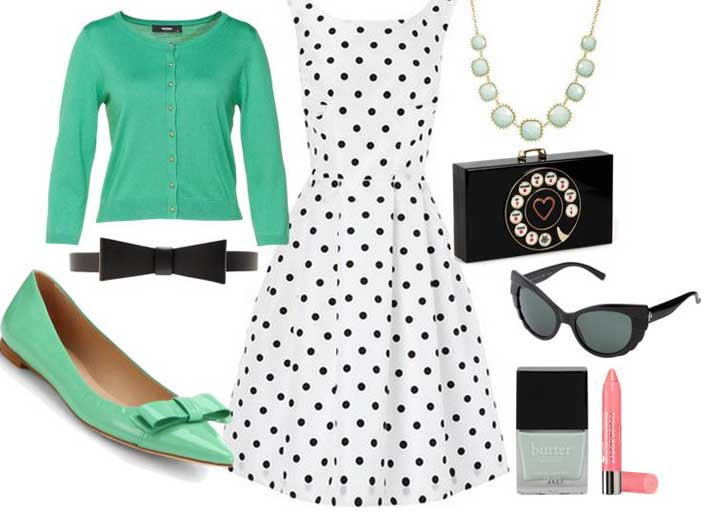 what to wear with mint green flats