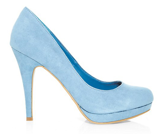 d196c27420a New Look pale blue suedette platforms. pale blue shoes