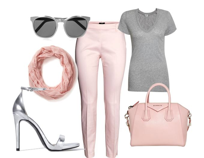 pink and silver outfit