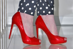 Shoe Review | Guess 'Ansina' red patent peep toes