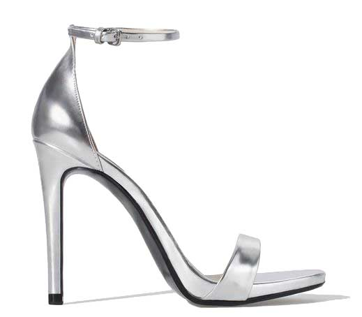 cbf591bddc Zara silver strappy high heel sandals > Shoeperwoman