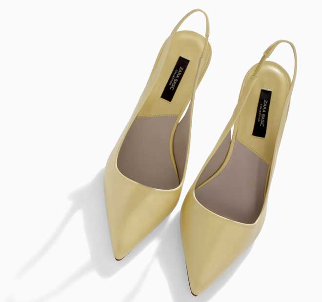 lemon pointed shoes