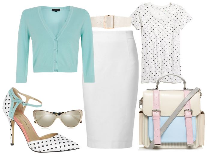what to wear with polka dot shoes