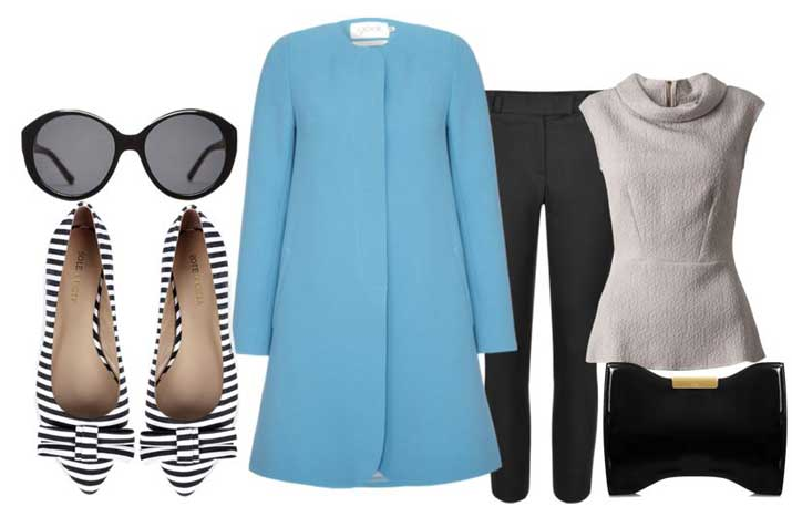 what to wear with stripe flats