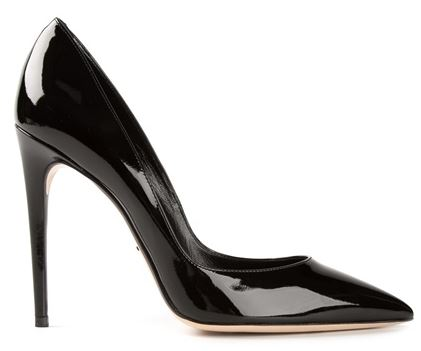 Dolce & Gabbana black patent pointed toe pumps