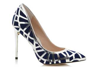 Navy And Silver Heels | Tsaa Heel