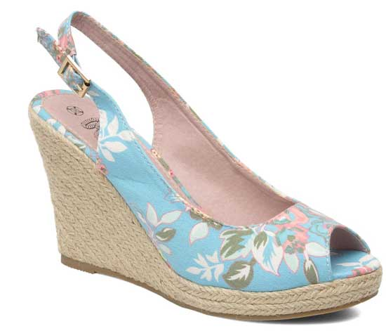 Refresh 'Barbe' floral print canvas wedges