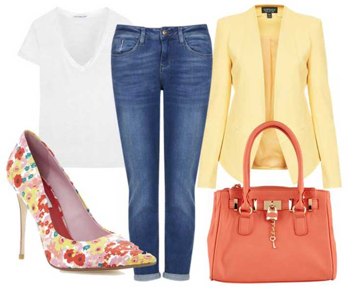 what to wear with floral print shoes