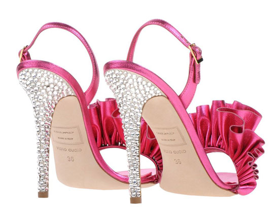 rhinestone heel on shoes