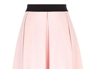 light-pink-box-pleat-midi-skirt