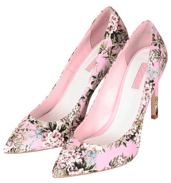 Shoe Kryptonite | Topshop &39Glory&39 floral print high heels in pink