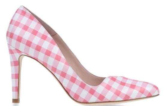 Carven pink gingham closed-toe pumps