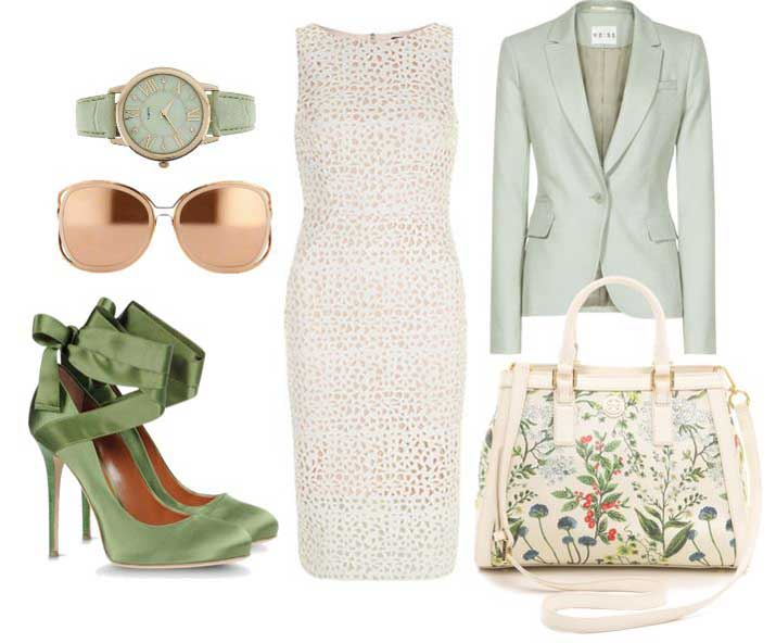 what to wear with sage green shoes