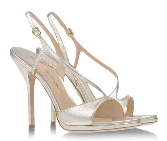 Paul Andrew silver evening sandals