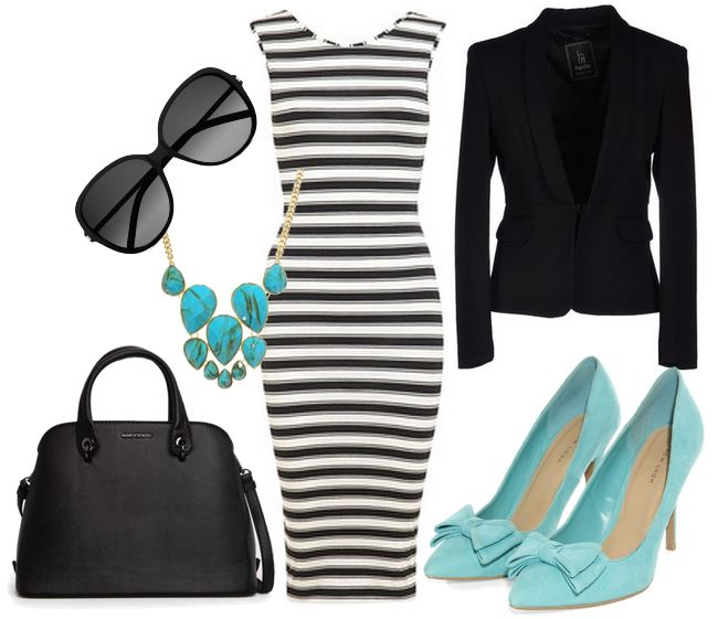 what to wear with turquoise shoes
