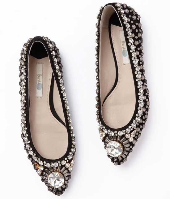 Boden flat jewelled pointed pumps