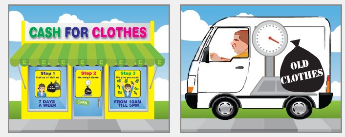 The best Cash for Clothes company in Bristol, Bath, Taunton, Gloucester area. Get cash for unwanted items. Eco-friendly company and FREE 24h collection.