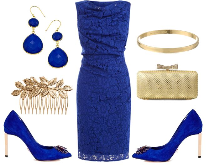 blue dress and shoes
