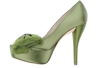 green-satin-shoes