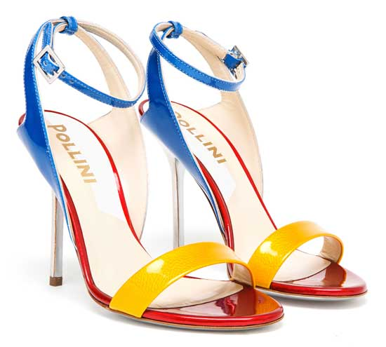 Pollini multicolour patent sandals