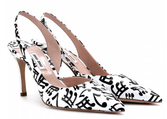 musical notes slingbacks