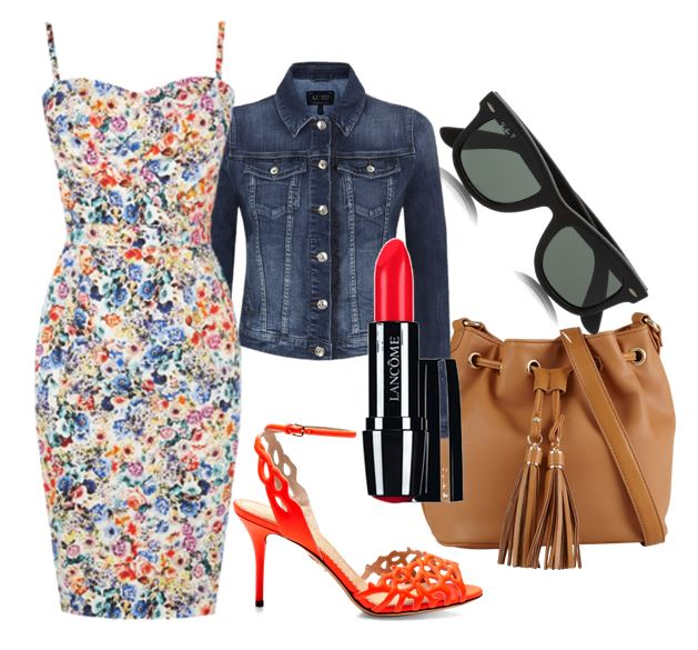 oasis floral dress outfit