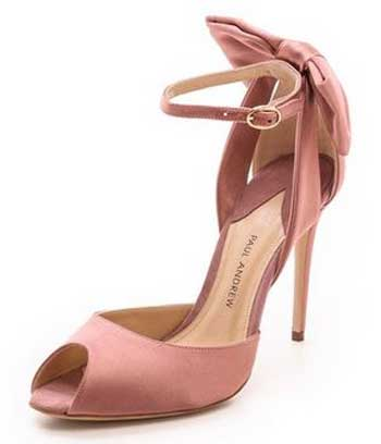 Paul Andrew pink bow sandals