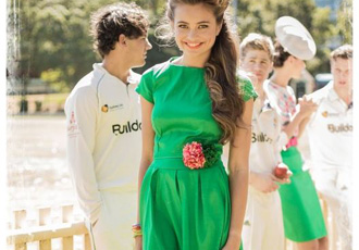 Shabby Apple on the green dress