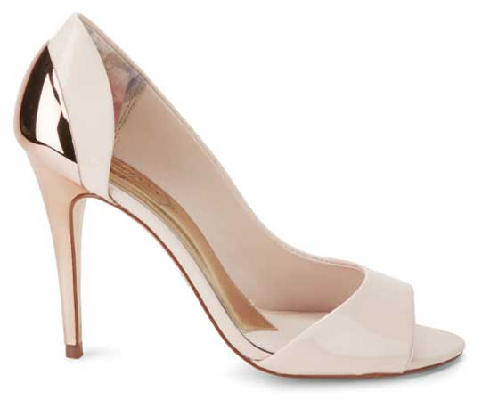 Ted Baker 'Maceey' patent two tone peep toes