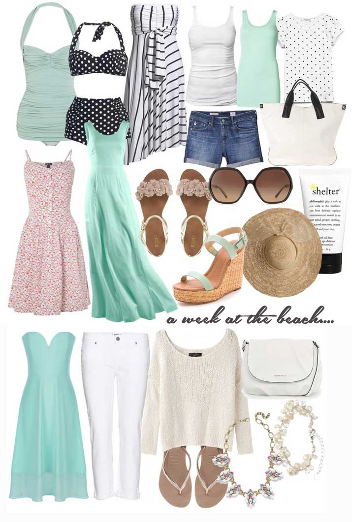what to pack for a week at the beach