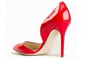 Brian Atwood red patent 'Patty' pumps