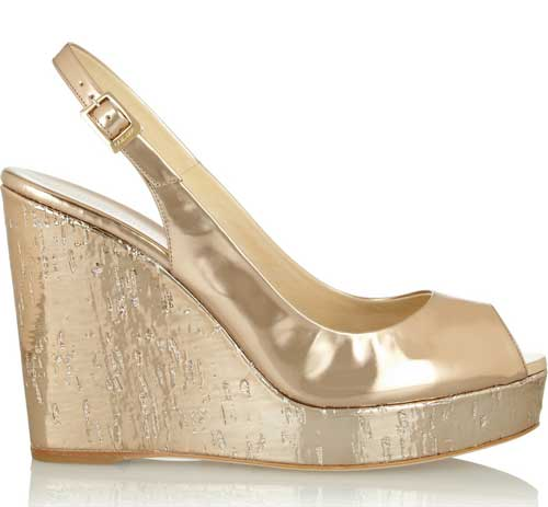 903b16ba2e3 Jimmy Choo  Prova  mirrored-leather wedge slingbacks   Shoeperwoman