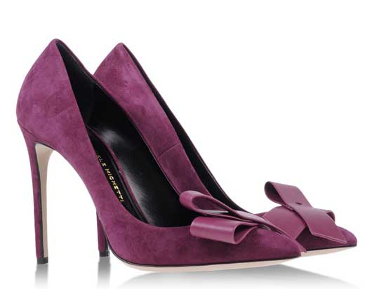 Daniele Michetti purple bow-front pumps