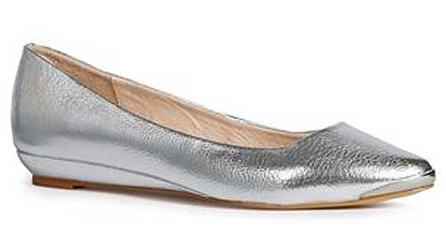 pointed silver wedges