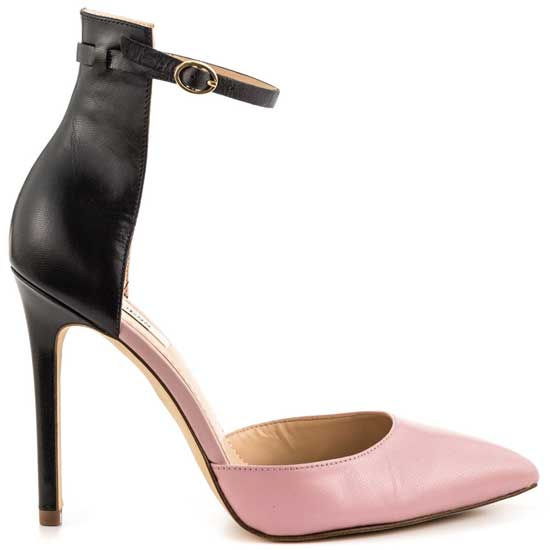 Guess Abaih black and pink two-part pumps