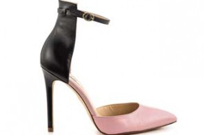 Guess' Abaih' black and pink two-part pumps