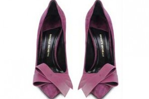 purple bow shoes
