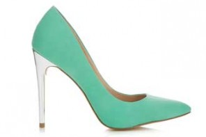 miss selfridge mint green shoes